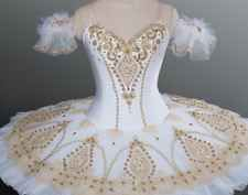 Professional white/gold Ballet Tutu Custom made, inc delivery amazing quality