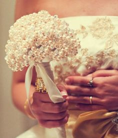 Brides beaded bouquet