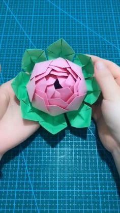 Paper Flowers Craft, Paper Crafts Origami, Paper Crafts For Kids, Fabric Crafts, Diy Crafts Hacks, Diy Crafts For Gifts, Diy Craft Projects, Diy Crafts For Teens, Instruções Origami