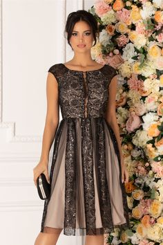 Rochie Bej De Ocazie Cu Dantela Si Paiete Casual, Dresses, Fashion, Atelier, Vestidos, Moda, Fashion Styles, Dress, Fashion Illustrations
