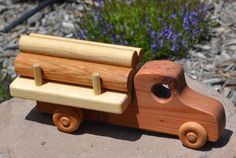 Hey, I found this really awesome Etsy listing at https://www.etsy.com/listing/153389091/log-truck-redwood-heirloom-toy-handmade