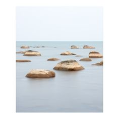 Soothing large wall art landscape prints of rocks in the calm water of Lake Huron at Kettle Point, Ontario, Canada. Captured early one fall morning this image highlights the quiet beauty of the Lake Huron shoreline. Beach Rock Art, Beach Rocks, Landscaping With Rocks, Backyard Landscaping, Landscaping Ideas, Ocean Photos, Black And White Landscape, Lake Huron, Coastal Wall Art
