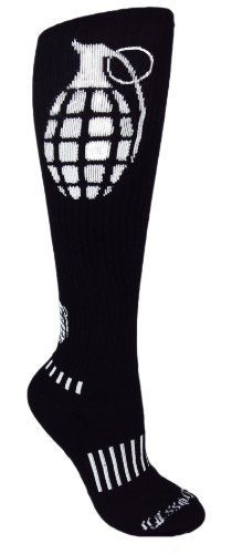 Custom Sock Source Ultimate Grenade Black Knee-High CrossFit Socks by Custom Sock Source, http://www.amazon.com/dp/B008B8LOJ4/ref=cm_sw_r_pi_dp_QPuRqb08QPG67
