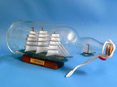 "HMS Victory Ship in a Bottle 11"" from Handcrafted Nautical Decor - In stock and ready to ship"