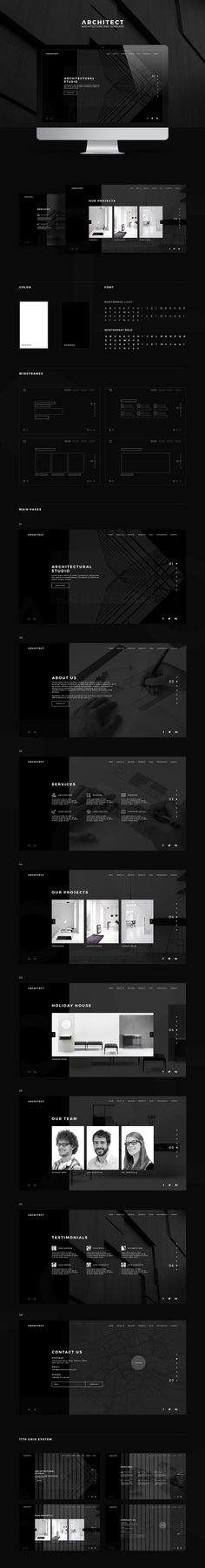 Architect - Architecture PSD Template on Behance