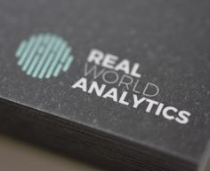 Real World Analytics - Brand Identity Design & Positioning - Statinery Design - Neon Logo Brand Identity Design, Logo Design, Visual Analytics, Neon Logo, Business Intelligence, Data Science, Company Names, Visual Identity, Cool Things To Make