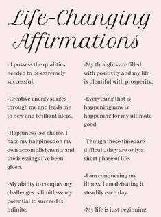 Practicing positive self-affirmations is a wonderful way to start your day. They can help you set the tone for how you want your experience to be, and aid you in establishing your intention for the da Vie Positive, Affirmations Positives, Positive Affirmations Quotes, Self Love Affirmations, Law Of Attraction Affirmations, Affirmation Quotes, Positive Quotes, Manifestation Law Of Attraction, Healthy Affirmations