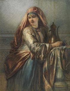 Palace Interior with Oriental Woman Egron Sillif Lundgren