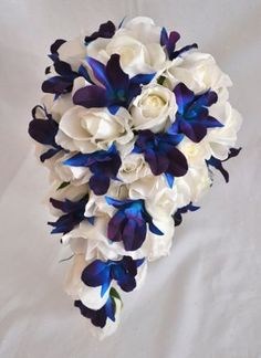 silk blue and purple dendrobium orchids | Silk blue dendrobium orchid | Weddings, Style and Decor | Wedding ...