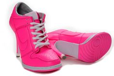 Womens Nike Dunk SB Low Heels Deep Pink