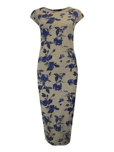Grey Floral Midi Dress   £7.99!  www.exciteclothing.com