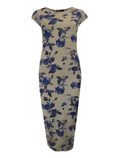 Grey Floral Midi Dress   £7.99!  www.exciteclothing.com
