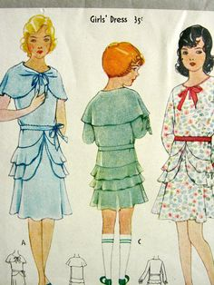 UNCUT Vintage 1930's McCall Pattern 6378 // Girls' by anne8865, $35.00