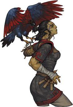 ArtStation - Companions of Deadfire, Penett Penett Half-orc Ranger Fantasy Races, High Fantasy, Fantasy Women, Fantasy Rpg, Medieval Fantasy, Fantasy Heroes, Fantasy Warrior, Character Creation, Character Concept