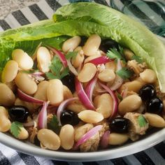 Grilled Chicken and Two-Bean Salad on Romaine - Quick Lunch Recipes to Take to Work - Shape Magazine