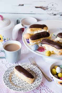 Tea party with Banoffee Eclairs