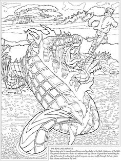 welcome to dover publications the unbelievable cryptozoology coloring book free coloring pagescoloring