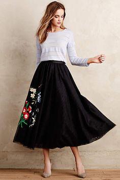 Floristic Tulle Skirt - anthropologie.com #anthrofave