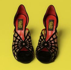 Have you met the Adele spiderweb pump? 🖤🕷🖤  Our best-selling open-toe pump has a luxurious black velvet laser-cut spider web detail that strategically cradles your foot.  🧛🏻♀️ Truly a vamp's shoe dream come true.   Get yourself a pair today by clicking the link in our bio.  #vondshoes #veganshoes  🥀 Buy Yours Before Stock Runs Out!   Black Widow Costume, Goth Shoes, Cinderella Shoes, Vegan Shoes, Back To Black, Black Pumps, Pumps Heels, Me Too Shoes, Fashion Shoes
