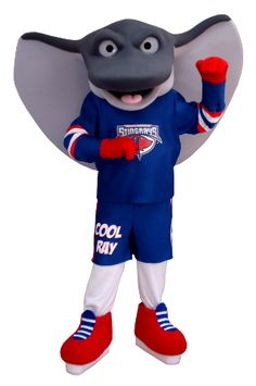 This is Cool Ray! He's the mascot we made for Stingrays Hockey!