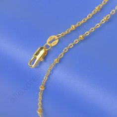 """2015 New Good Quality 18K Yellow Gold Filled Chains Necklace 5PCS Lot 18K GF Stamped For Pendant Chain With Lobster Clasps 18""""-in Chain Necklaces from Jewelry on Aliexpress.com 