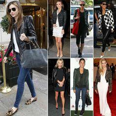 veste en cuir femme jeans slim avec des chaussures à motif léopard