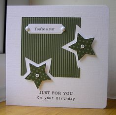 Stars by: Chrissys4cards. Great way to use the star punch.....