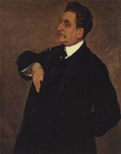 Valentin Serov (1865 –  1911) - Portrait of Vladimir Girshman, 1911