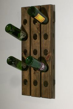 Riddling Rack Wall Hanging Antique Style 15-bottle Winerack