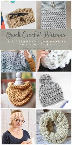easy crochet patterns | quick crochet patterns | fast crochet projects | free crochet patterns | Daisy Cottage Designs has compiled this adorable collection of crochet patterns that are both quick and easy to make! Use them to make gifts for friends or goodies for yourself!