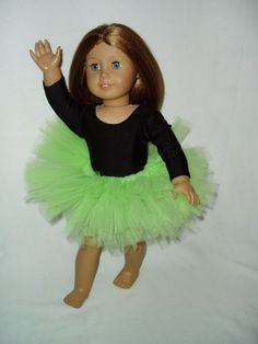Going to ballet! My doll can have a tutu so she can have her class. You can make this out of tool and elastic.