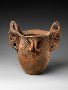 Deep Vessel with Handles | Japan | Middle Jōmon period (ca. 3500–2500 B.C.) | The Metropolitan Museum of Art