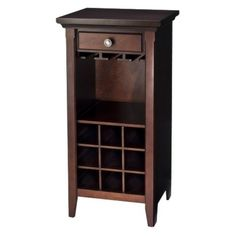 Threshold™ Avington Wine Cabinet - Dark Tobacco