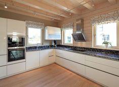 Stommel - Musterhaus Traubeneiche in Köln Stommel Haus, Kitchen Island, Kitchen Cabinets, House Design, Couch, Home Decor, Ideas, Modern Prefab Homes, Living Room Modern