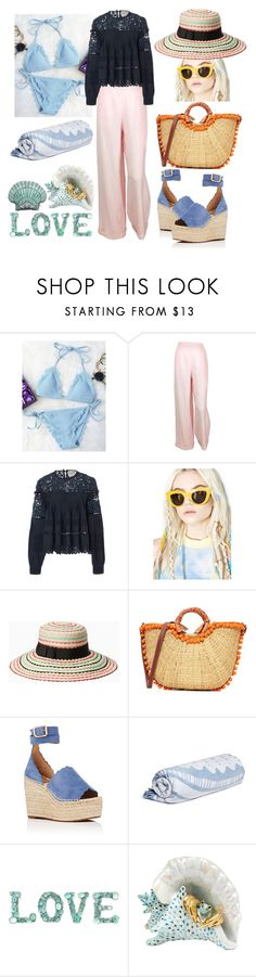 """""""Love The Beach 🌊"""" by p0llyinurpocket ❤ liked on Polyvore featuring Chanel, Sea, New York, Quay, Kate Spade, Sam Edelman, Chloé, The Beach People, Herend and Silken Favours"""