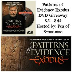 Patterns of Evidence Exodus Giveaway (ends 8/14)