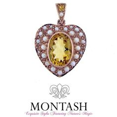 #Citrine is the alternative #birthstone for the month of #November & is distinguished by its yellow-orange colour! #montashjewellerydesign