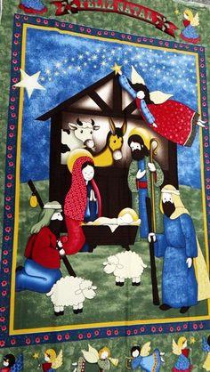 Tecido de Natal Círculo!