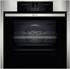 NEFF -Four multifonction encastrable Slide & Hide pyrolyse inox 71 L - Classe A+ - BaseClean - Ecran TFT standard - Achat / Vente four - Cdiscount Four Pyrolyse, Built In Electric Oven, Single Oven, Stainless Steel Oven, Built In Ovens, Küchen Design, No Cook Meals, Childproofing