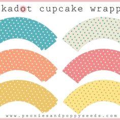 Polkadot Cupcake Wrappers