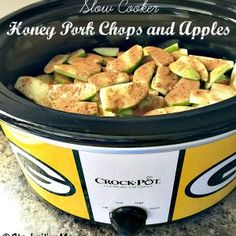 Slow Cooker Honey Pork Chops and Apples