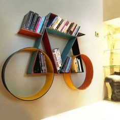 35 Fabulous Bookshelf Design Ideas For Your Interior Decor - A bookshelf is one of the most essential furniture required in an office or home. If you are a person who loves to read books and has a number of them. Creative Bookshelves, Bookshelves Kids, Bookshelf Design, Wall Shelves Design, Bookcase, Book Shelves, Bookshelf Decorating, Tree Bookshelf, Wall Design