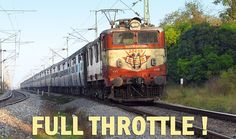 TRAIN Engine at Full Throttle : Oldest Electric Locomotive Indian Railways - The Indian locomotive class WAM-4 is a very successful class of Electric locomotives used in Indian Railways.    The first member of the class was indigenously designed and built by CLW in 1970-71. The locomotive was produced until about 1997. Designed specially for mixed traffic, the WAM-4 train engine has rendered excellent service.   Now, most of these are used exclusively for passenger traffic.