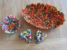 Met strijkkralen bakjes maken