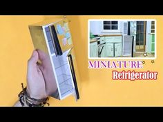 [MINIATURE] How to Make Refrigerator (steel) - Tutorial / 미니어처 스틸냉장고 만들기…
