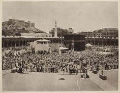 From the Untold Lives blog post 'Pilgrim traffic during the First World War'. Image: The Kabba at Mecca c.1880s