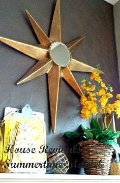 House Revivals: How to Make a Paper Mache Star Burst Mirror