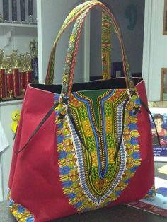 African Print Ankara Tote Bag
