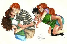 Ron and Hermione, Harry and Ginny by The Life Pursuit
