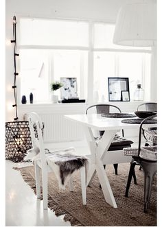Love the bright white with black accents. Very modern.
